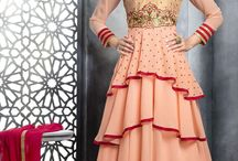 Create you own look. / Varied patterns of attractive Anarkali Suits.