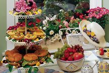 Tea Time / Lady-like, tea party inspiration. Perfect for a friendly chat,  birthday party, baby or wedding shower.