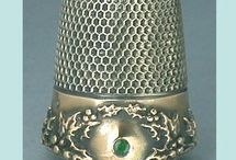 ~Thimbles & Thimble Holders / I collect thimbles and have belonged to an email thimble club for several years. I saw so many pretty ones on Pinterest I decided to collect them here too. Most of these are ones I'd like to have and a few I do already have. / by Shari Rice
