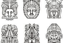 Aztec totem