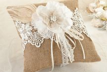 shabby chic RING PILLOW