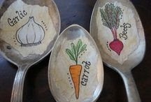 Plant Marker Ideas / Find creative, clever and fun inspiration to make your own plant markers!