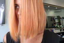 Peachy hair