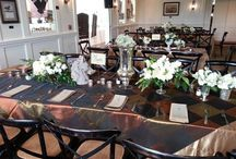 """""""Business of Brides"""" Luncheon by Wedding411OnDemand / Gala Cloths' table linens contributed to the tabletop décor at Wedding411OnDemand's Business of Brides luncheon at the Mt. Washington Tavern in Maryland."""