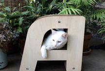 1ère collection HOMYCAT / Les lettres sont partout et s'intègrent facilement dans tout type d'intérieur. Homycat vous réconciliera avec le mobilier pour chats. Fini l'arbre à chat au milieu du salon. Faites vous maintenant plaisir en faisant plaisir à votre chat. --> www.homycat.com