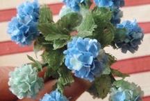 Миниатюра - сад и цветы для кукольного дома
