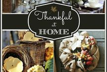 "Thankful at Home / Celebrating all that is HOME ~ bloggers share in pictures & words why & how they are ""thankful at home""."