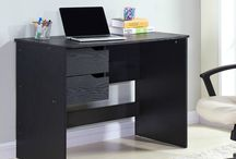 Modern Wooden Desk Office Home Furniture Study Black Table Computer Lpatop PC