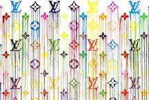 Art is IN FASHION - Louis Vuitton / Art in ADS, window shoppings, monograms.