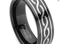 Black Tungsten Rings / Men's black tungsten wedding bands. Find more at Titaniumkay.com!