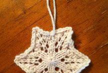 knit snowflakes