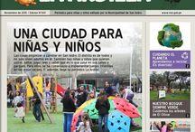 """""""La Ardilla"""": Periódico para niños y niñas / Periódico para niñas y niños editado por la Municipalidad de San Isidro. Contiene información variada sobre actualidad, mascotas, historietas, juegos, videojuegos, cómics y mucho"""