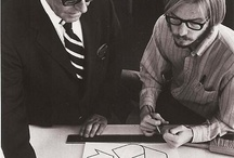 Gary Anderon (right) and his Recycle symbol, 1971.