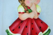 menina melancia