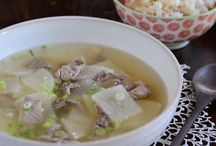 Korean beef radish soup
