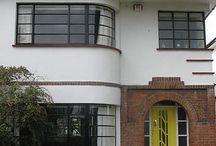 Art Deco house facade