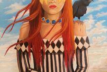 paintings by Brigitte Meskey