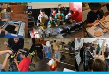 STEM Classes for Kids / Urban Workshop offers a 12-week STEM Program for kids ages 10-16 that will teach them to use a wide selection of hand and power tools with a variety of materials.       These are no ordinary STEM classes, more like old school shop classes really. The kids will have fun, get dirty, use loud and obnoxious tools and make a lot saw dust, metal chips and wire scraps along the way!