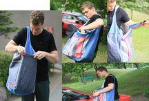 artistic bag JE PARLE FRANCAIS / artistic bag sewn on request