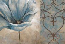 Стена  цветок