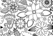 Colouring anti-stress for adults - Printables