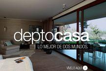 DeptoCasa, el lugar donde siempre quisiste estar. / La ecuación perfecta de Almagro. La comodidad de un exclusivo departamento de dos pisos con el jardín privado de una casa. Conoce lo mejor de dos mundos.