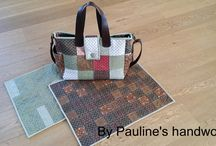 how to use up 12 fat quarters / Mother and Baby bag set pattern for download