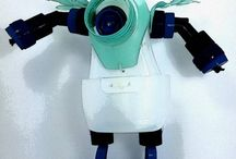 plastic bottle robot toy ideas