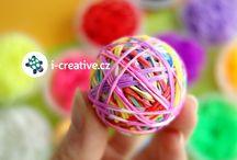 Pletení z gumiček / Pletení a tvoření z gumiček Rainbow Loom Bands.