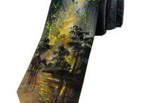 Галстуки ручной росписи батик