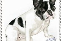 French Bulldogs Post Stamps / French Bulldogs Post Stamps