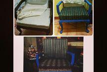 Muebles restaurados por mi mama y yo