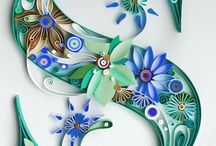 Quilling litery cyfry