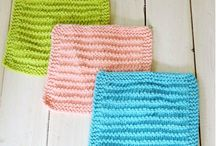 Knitting dishcloths/towels.