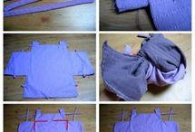 šití a střihy / panenky, děti, oblečení