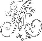 monograma para bordar e apliques