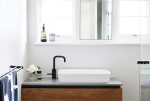 washbasin under the window