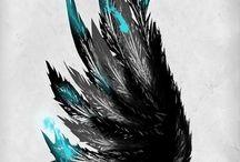 Iconos Pájaro Negro