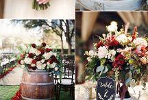 Wedding Theme M & A / Wedding Decoration Concept in Burgundy & Gold