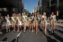 MORNING BEAUTY: Brazil's Miss Bumbum Contestants Cause Traffic Jam As They Take A Stroll On The Streets (Photos)