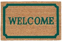 Welcome Mats / Door Mats are a perfect way to great guests.