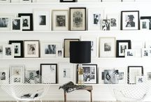 bookshelves + gallery walls