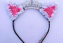 Uszka korony i opaski na głowę i różne