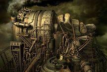 Steampunk machine / machine
