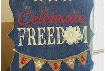 4th of July Crafts / 4th of July Crafts for adults and kids.  From Home Decor to outside decor.