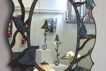 Leadlight mirror designs