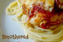 Garlic chicken spaghetti