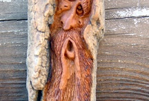WOOD CARVINGS / Some people just look at a piece of wood and just create. / by Diana Carson