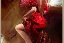 kadın figürü y.boya