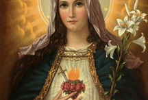 Sacred Heart of St. Mary / Let's think and stay a little bit about St.Mary's love, grace & peace.  All of these comes from the Jesus.